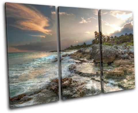 Mexico Caribbean Sunset Seascape - 13-0339(00B)-TR32-LO